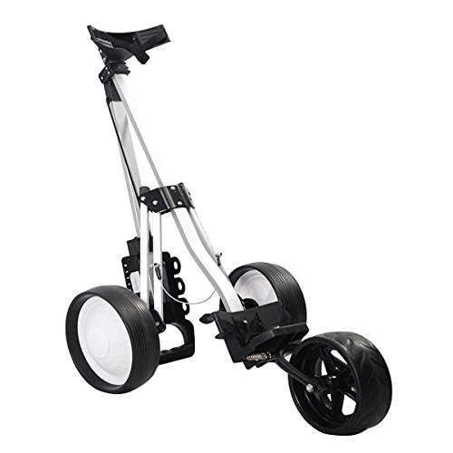 MD Group Golf Cart Push Trolley Pull Wheel Foldable Club Swivel Holder Lightweight Aluminum by MD Group (Image #3)