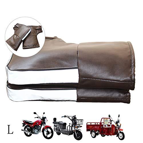 確立恥ずかしいなすオートバイの保護ハンドルのマフ 電動スクーターグローブ PUレザー 冬の暖かい