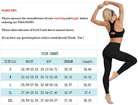 High Waisted Tummy Control Yoga Pants for Women Workout Athletic Compression Leggings for Women