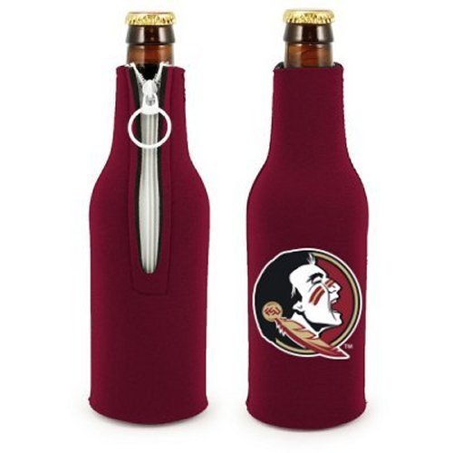 Ncaa Florida State   Neoprene Bottle Suits  2    Fsu Seminoles Bottle Insulators With Zipper   Set Of 2