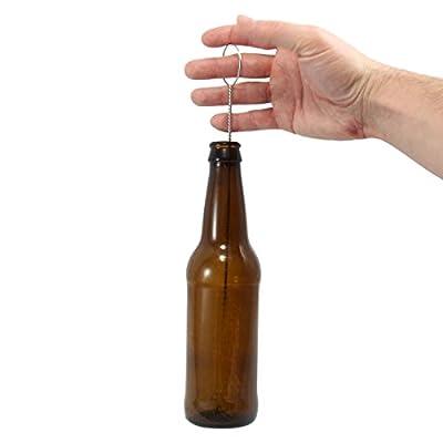 STEELUTION: Beer/Soda/Pop/Wine/Baby Bottle Cleaning Brush, Wide Loop easy to spin