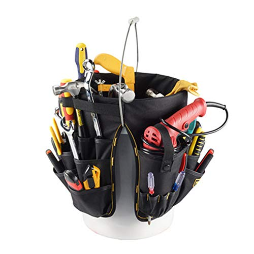 ZRK Multi-Tool Bucket Bag Electrician Canvas Function Bag Repair Kit Portable Construction Kit Can Be Free to Carry Construction Site ()