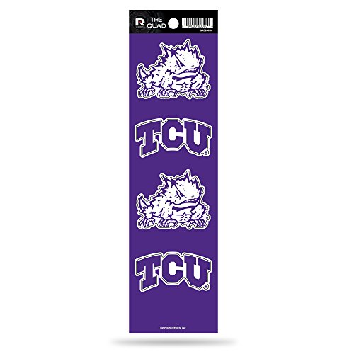 Tcu Horned Frogs Baseball - Rico NCAA TCU Horned Frogs Quad Decal