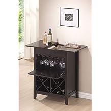 ACME 12240 Leo Wine Bar Cabinet Set, Wenge Finish