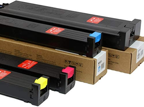 MX50NT Made in USA Toner Compatible Toner Cartridge Replacement for Sharp MX-31NT Black, Cyan, Yellow, Magenta, 4 Pack MX-4100N,4101N,5000N,5001N