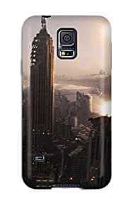 Galaxy Case - Tpu Case Protective For Galaxy S5- Manhattan In The Future