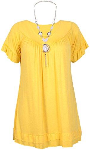 ROYAUME UNI Volant Gypsy Femmes 28 citronier 12 Collier Avec Tunique nqAZYRX