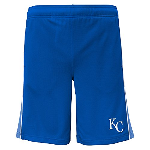 Kansas City Royals Shorts - OuterStuff MLB Kansas City Royals Youth Boys 8-20 Baseball Classice Short-M (10-12)