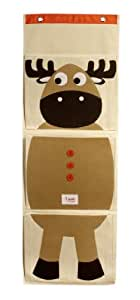 3 Sprouts Organic Hanging Wall Organizer, Moose (Discontinued by Manufacturer)