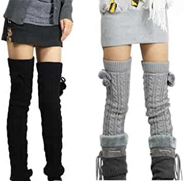 50514b73f Nanxson(TM) Women s Girl s Long Knitted Twisted Patterns Leg Warmers TTW0002