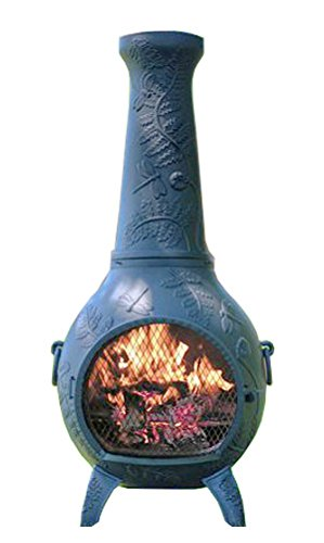 Chiminea Outdoor Fireplace Wood Burning, Dragonfly Design