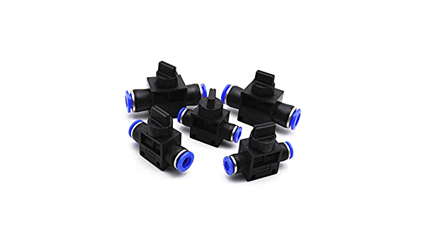 Color : 10mm OD Hose Quick and easy to install Air Pneumatic Hand Valve Fitting 4mm-12mm OD Hose Pipe Tube Push Into Connect T-joint 2-Way Flow Limiting Speed Control Easy to operate and durable