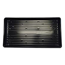 "10 Plant Growing Trays (No Drain Holes) - 21"" x 11"" - Perfect Garden Seed Starter Grow Trays: For Seedlings, Indoor Gardening, Growing Microgreens, Wheatgrass & More - Soil or Hydroponic"