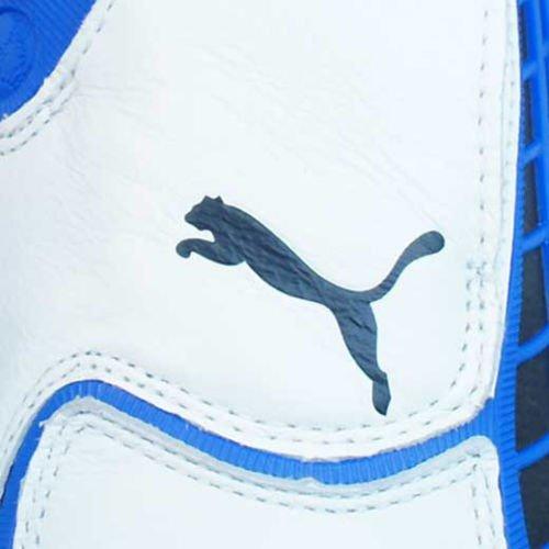 Puma V1.10 K SG Herren-Leder-Fußballschuhe Weiß / Blau