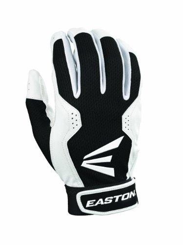 (Easton Youth Typhoon III Batting Gloves (X-large, White/Black))
