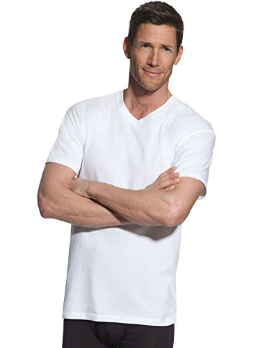 Hanes Mens FreshIQ ComfortBlend 4-Pack Tall V-Neck T-Shirts, 2XT, (Tees Big Long Tall T-shirts)
