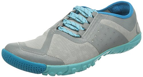 SKORA Women's Phase-X Running Shoe,Silver/Cyan/Ice,5 M US