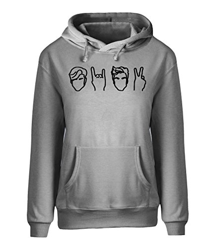 Adult Disco Dolly - saozi Dolan&Twins Logo Sweatshirt Womens HoodiePersonalize Adult Pullover-Gray&M