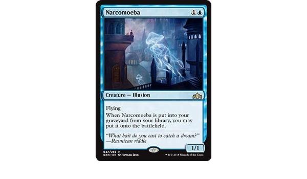 MTG: Narcomoeba Magic Card Guilds of Ravnica GRA Blue Rare