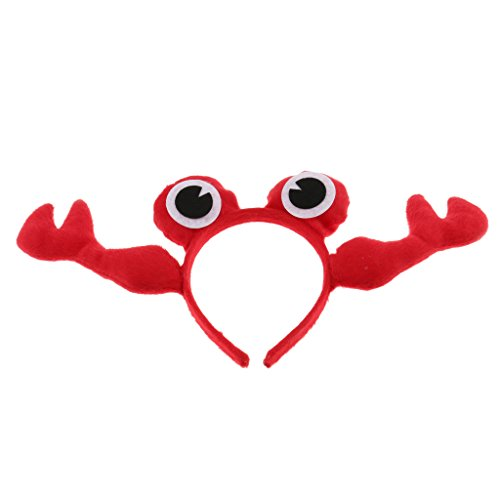 Dolity Cute Children's Crab Headband Animal Headpiece Fancy Party Costume Multicolor - Red
