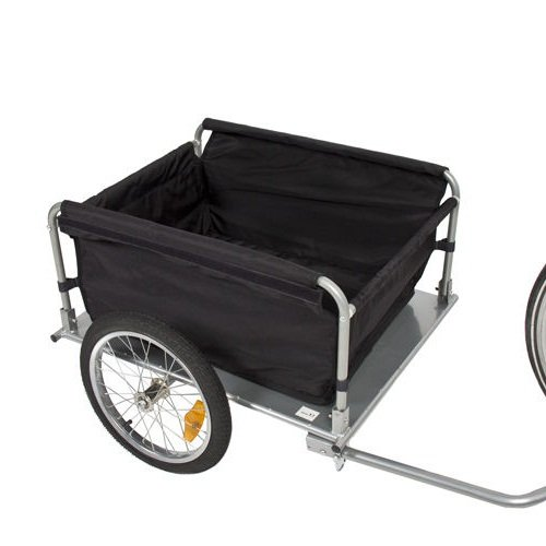 NEW Bike Cargo Trailer Bicycle With Cover Shopping Cart Carrier Tow Hauler Garden Black & Yellow