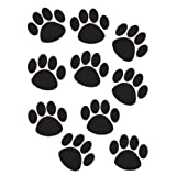 TEACHER CREATED RESOURCES ACCENTS BLACK PAW PRINTS (Set of 6)