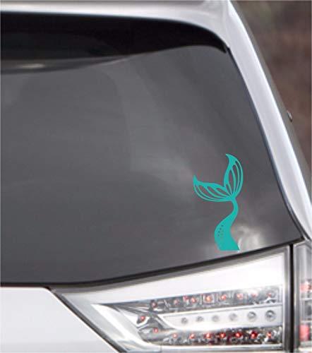 POPCultureSigns Mermaid Tail Vinyl Car Window Decal Sticker Beach Ocean Swim Fantasy Fish Life