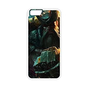 gangplank new splash league of legends iPhone 6 4.7 Inch Cell Phone Case White Customize Toy zhm004-7425892