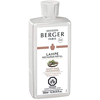 Lampe Berger Snowy Pines Fragrance Refill for Home Fragrance Oil Diffuser - 16.9 Fluid Ounces - 500 milliliters