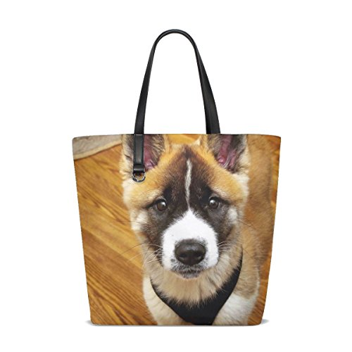 ckandwhite Yellow Pet Fluffy Puppy Adorable Tote Bag Purse Handbag For Women Girls ()