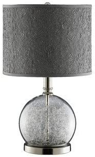 Stein World 947328 Watt Clear Glass Accent Lamp Room With Wire Filled Globe and Polished Chrome Base