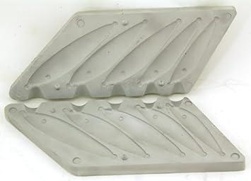 Bison - Molde de plomo, diseño de pez pequeño (75 - 190 gr): Amazon.es: Deportes y aire libre