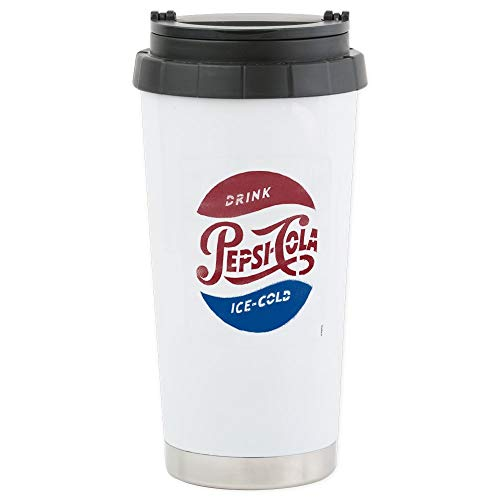 (CafePress Pepsi-Cola Ice Co Stainless Steel Travel Mug, Insulated 16 oz. Coffee Tumbler)