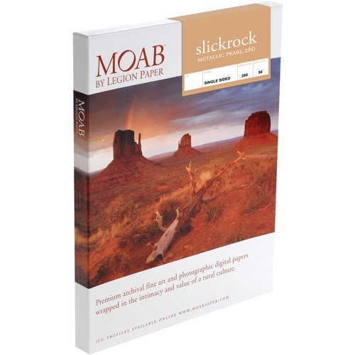 Moab Slickrock Metallic Pearl 260 (5.0 x 7.0'', 50 Sheets)