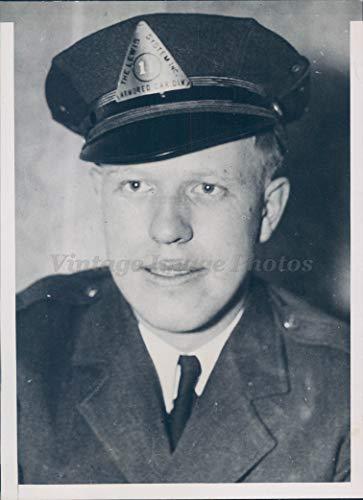 (Vintage Photos 1935 Photo Ernest Newman Bank Messenger Guard Kidnaped Victim Crime Bandit)