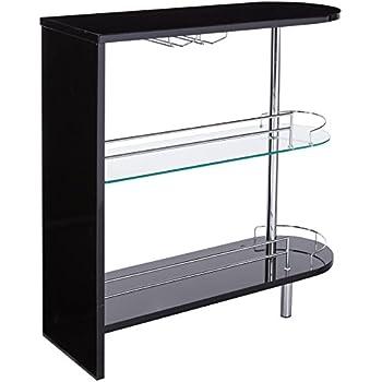 Good Coaster Home Furnishings 101063 Contemporary Bar Table, Black