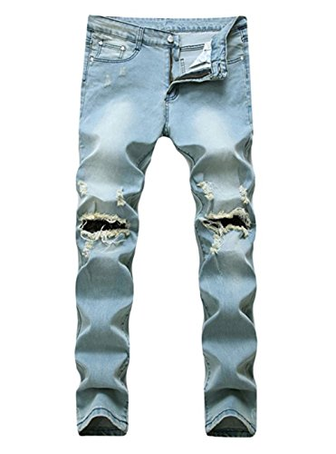 light blue colored jeans - 7