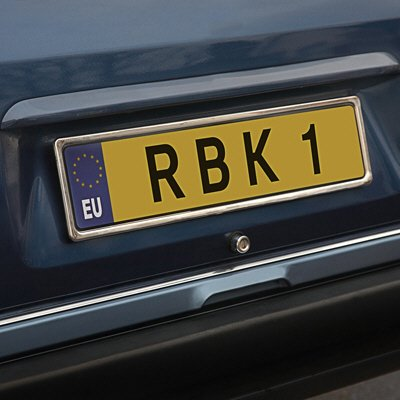 Richbrook 1000.7 Stainless Steel Number Plate Surround: Amazon.co.uk ...