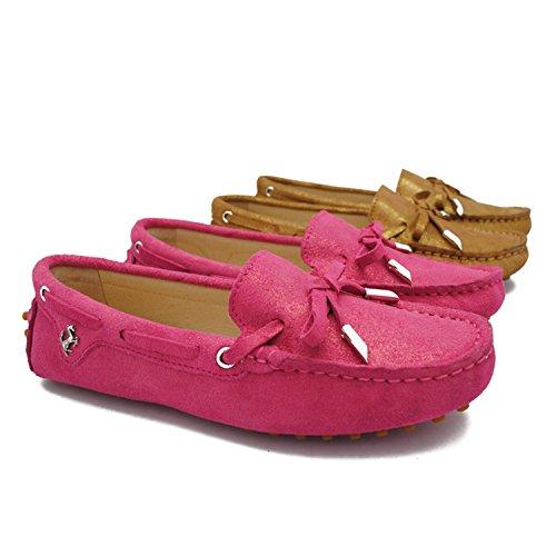 Minitoo ,  Damen Durchgängies Plateau Sandalen mit Keilabsatz , rot - rose - Größe: 35