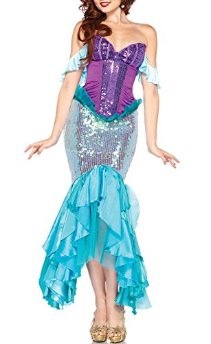 [Allbebe Women's Sexy Sequin Mermaid Costume Cosplay Halloween Costume Dress] (Homemade Halloween Costumes For Toddlers Ideas)