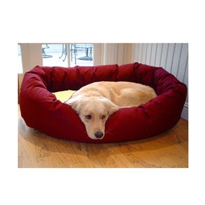 Majestic Pet 40-Inch Sherpa Bagel Bed for Pets, Burgundy, My Pet Supplies