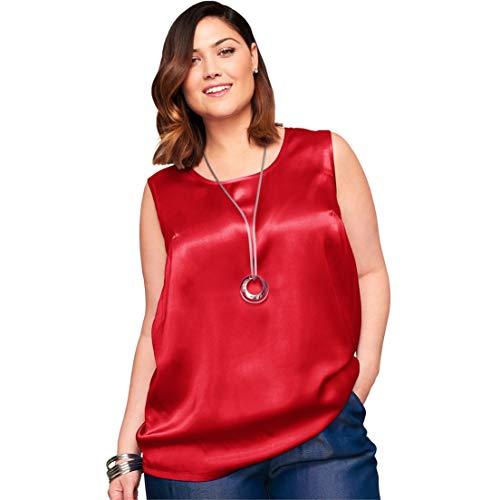 7d5f39d2da224 Jessica London Women s Plus Size Sleeveless Satin Blouse at Amazon Women s  Clothing store