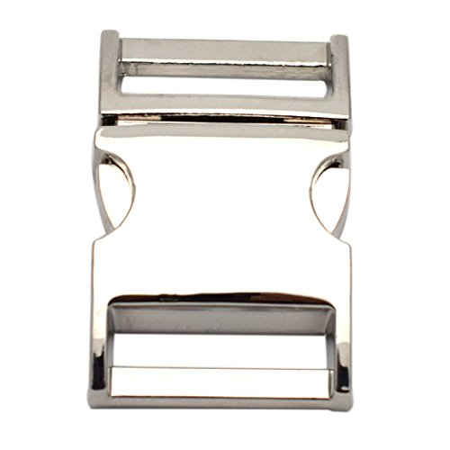 Metal Side Release Buckles - 3/4 inch Silver Metal Side Release Buckles Pack of 5