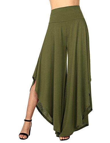 Scuro Bootcut BAISHENGGT Pantaloni Donna sportivi Verde EEXq6