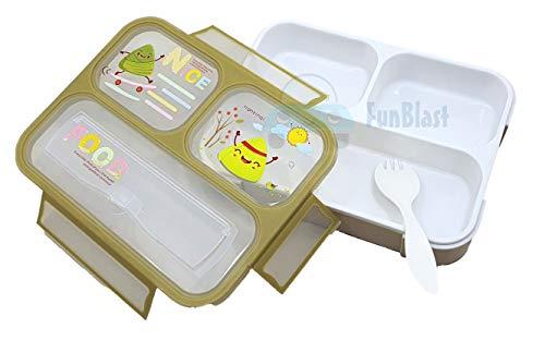 FunBlast Grid Lunch Box for Kids, Leak Proof Lunch Box for School, bento Lunch Box , Available in Different Variants