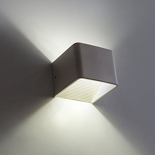 dipshop Modern 3W LED Wall Light Bedroom Living Room Wall Sconce Fixture (Warm - Arm Twin Sconce