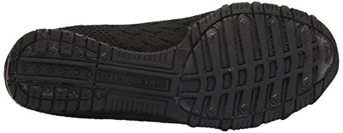 Women's Flat Skechers Witty Black Bikers Knit Ballet dqXXOH