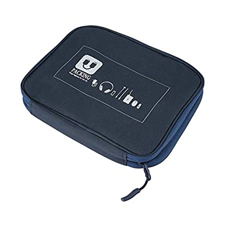 SEN Auriculares Cables de Datos Memorias USB Estuche de Viaje Bolsa de Almacenamiento Digital Funda Azul Marino: Amazon.es: Hogar
