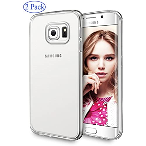 Samsung Galaxy S7 Edge Case, SupThin (2 Pack) Thin Case Cover TPU Rubber Gel, Transparent Clear Back Case for Sales