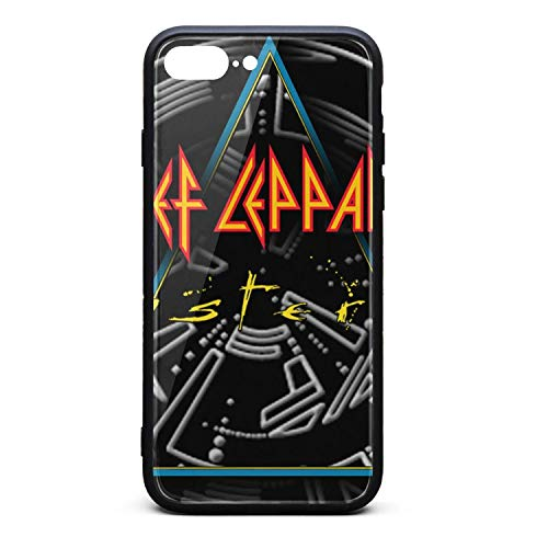 Hamilton Seven Gang - iPhone 7 Plus/8 Plus Case,Def-Leppard-HYSTERIA-30TH-ANNIVERSARY-EDITIONS- Anti-Scratch Slim Cover Case,TPU and Tempered Glass